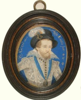 James 1 portrait by Nicholas Hilliard