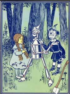 Meeting the Tin Woodman, by W.W. Denslow, 1900
