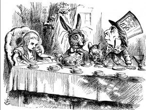 """A Mad Tea Party,"" by John Tenniel, 1865"